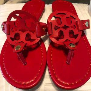 Tory Burch red sandals, never worn, NIB
